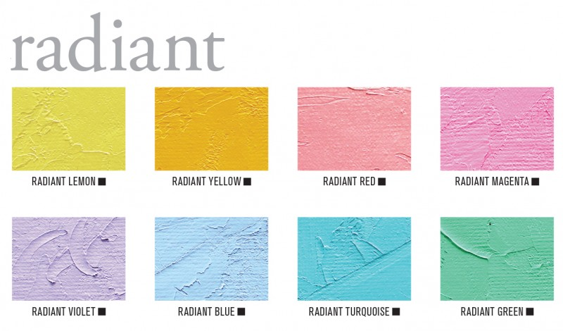 Gamblin Radiant Oil Paint Color Swatches