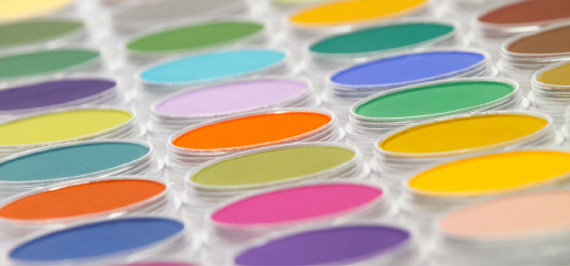 A sample of PanPastel colors
