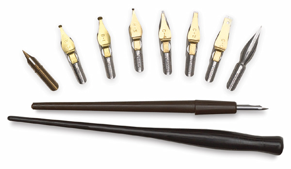 Image of Calligraphy & Drawing Pen Nibs and Handles by Speedball