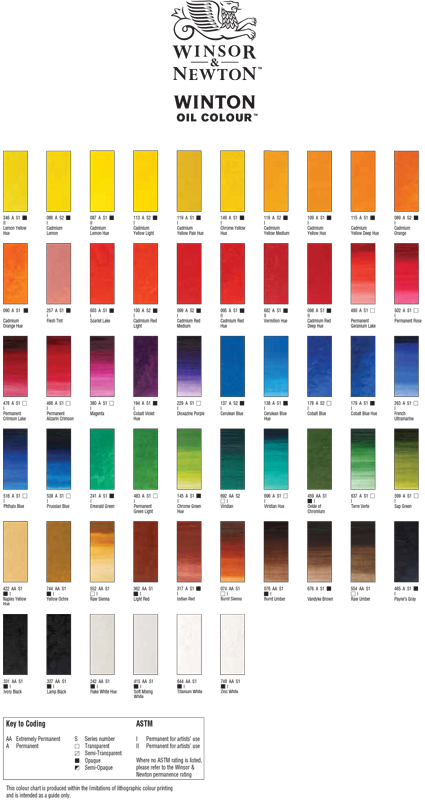 Winton Color Chart