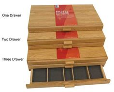 Image of Wood Pastel Storage Box by Art Alternatives