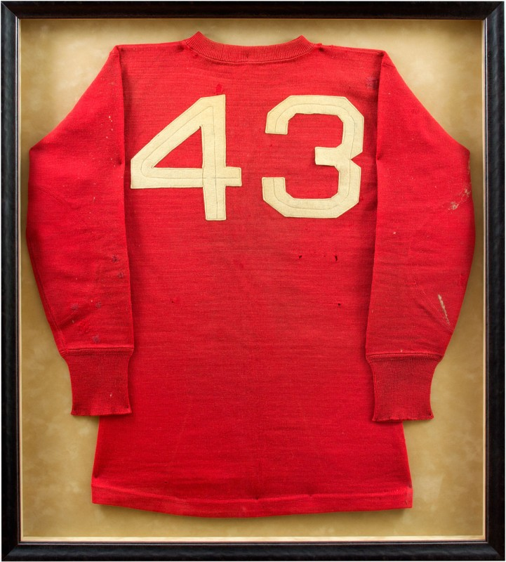 Image of Vintage Jersey in Black Frame.