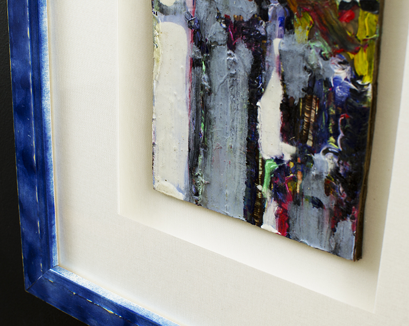 Abstract Painting in Blue Picture Frame   Doylestown, PA