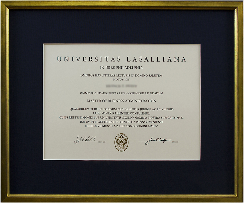 Image of Diploma in Gold Frame