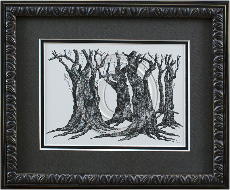 Image of Trees in Decorative Frame