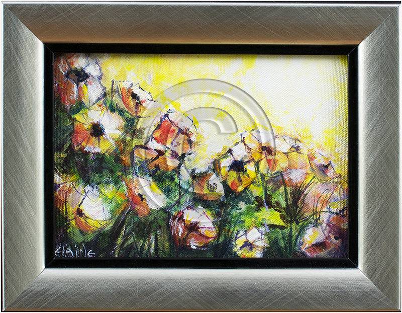 Image of Flowers in Gray Frame