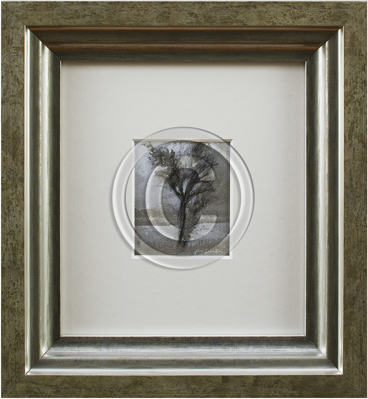 Framed drawing of trees