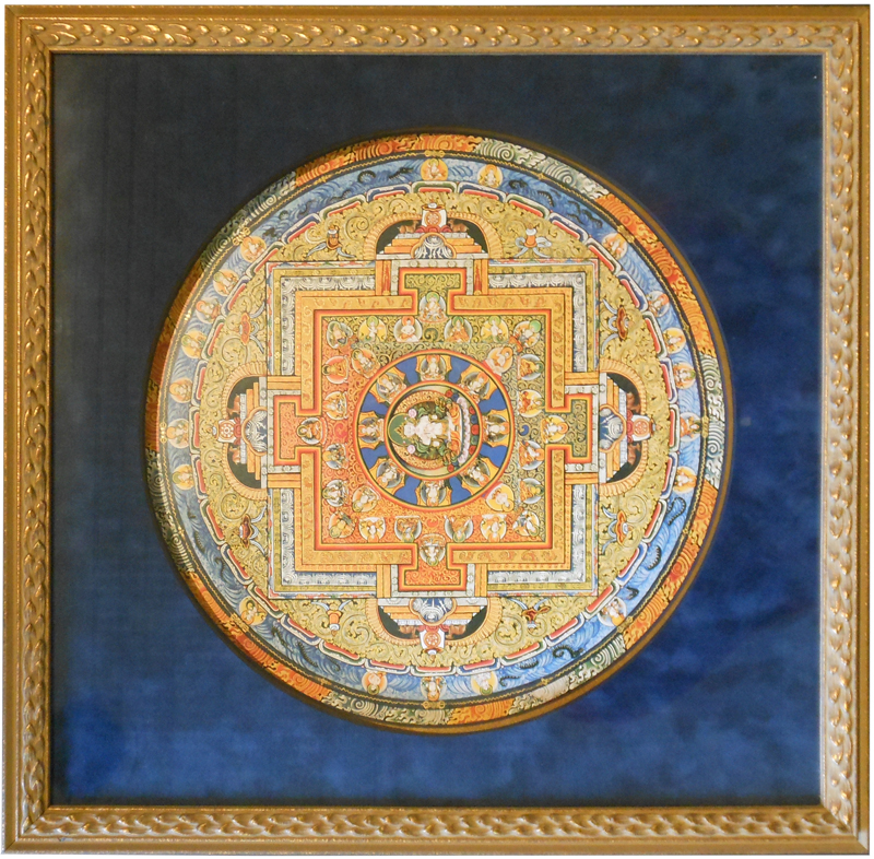 Image of Mandala in Gold Frame