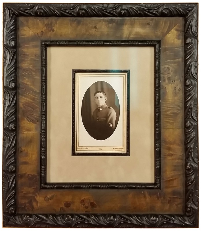 Family Heirloom in dark wooden frame