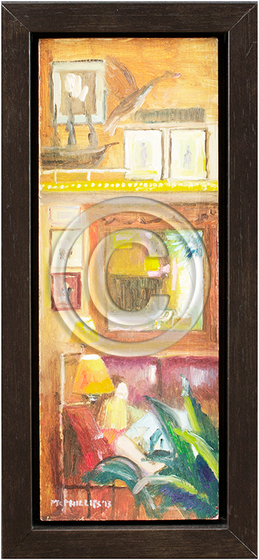 Image of Oil Painting in Float Frame