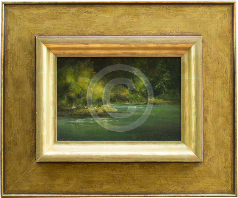 oil painting in gold frame