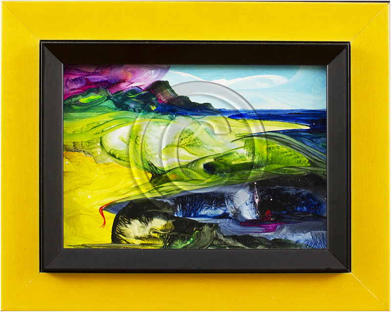 Abstract painting framed