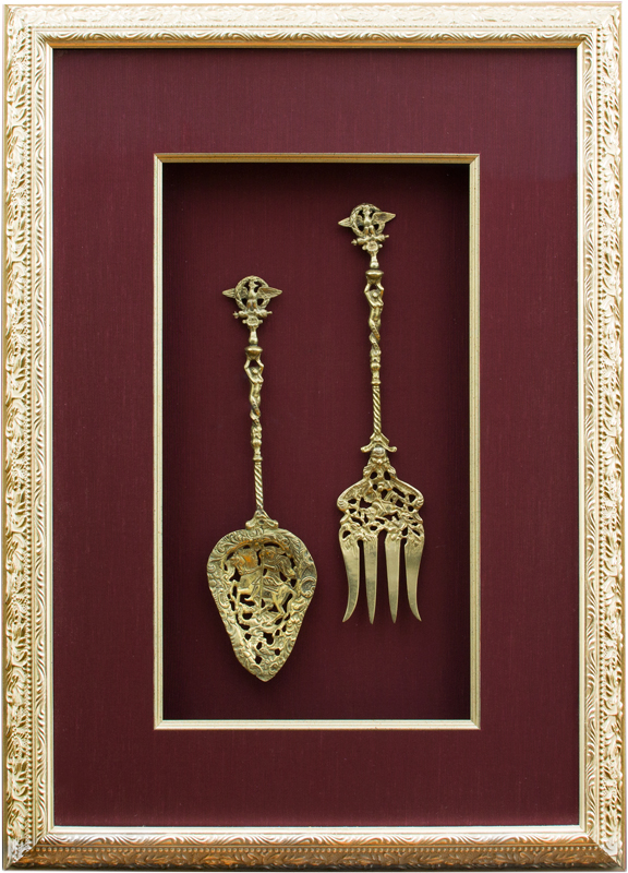 Image of Shadowboxed Heirloom Serving Set
