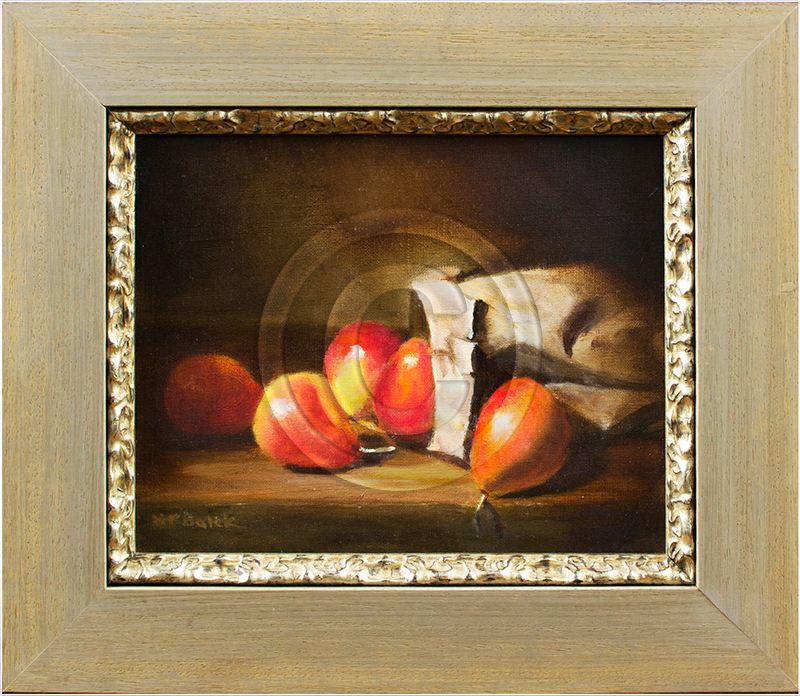 Image of Still-Life Oil Painting in Picture Frame