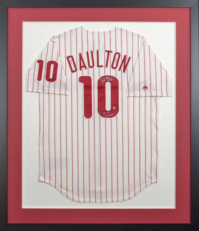 Image of Phillies Jersey in Black Frame