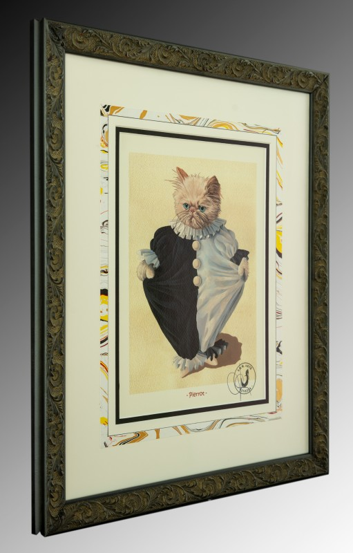 Picture frame of Classical Cat Print