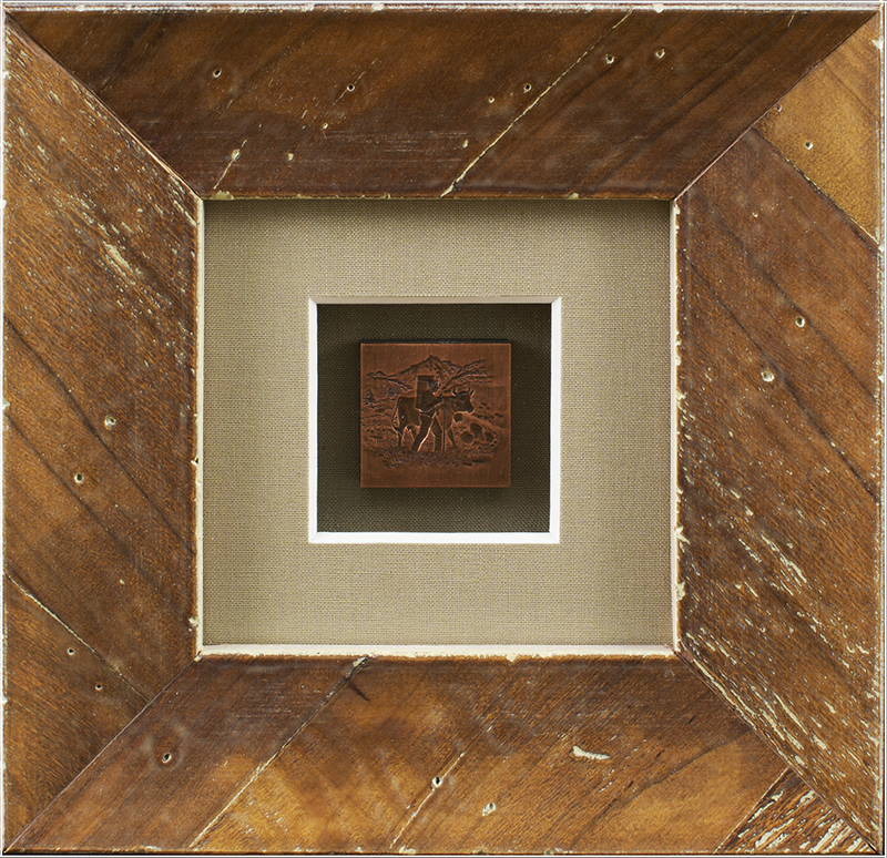 Image of Cow in Wood Frame