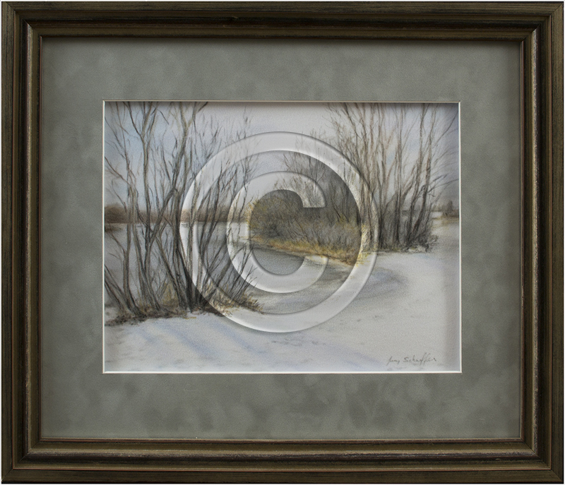 Image of Winter Drawing in Frame