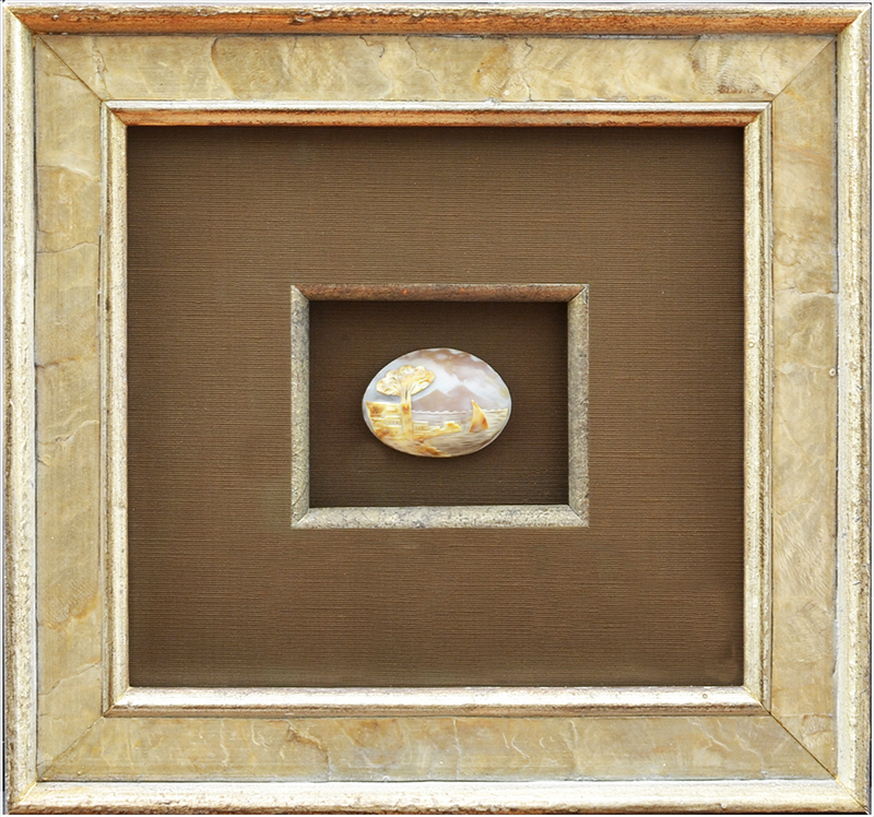 Image of Shell Cameo Carving in Showbox Frame