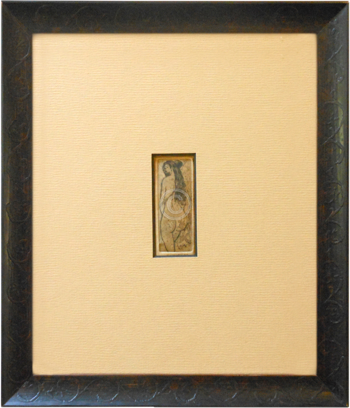 Tiny Etching Framed Phoenix Art Supplies And Framing In Doylestown Bucks County Pa