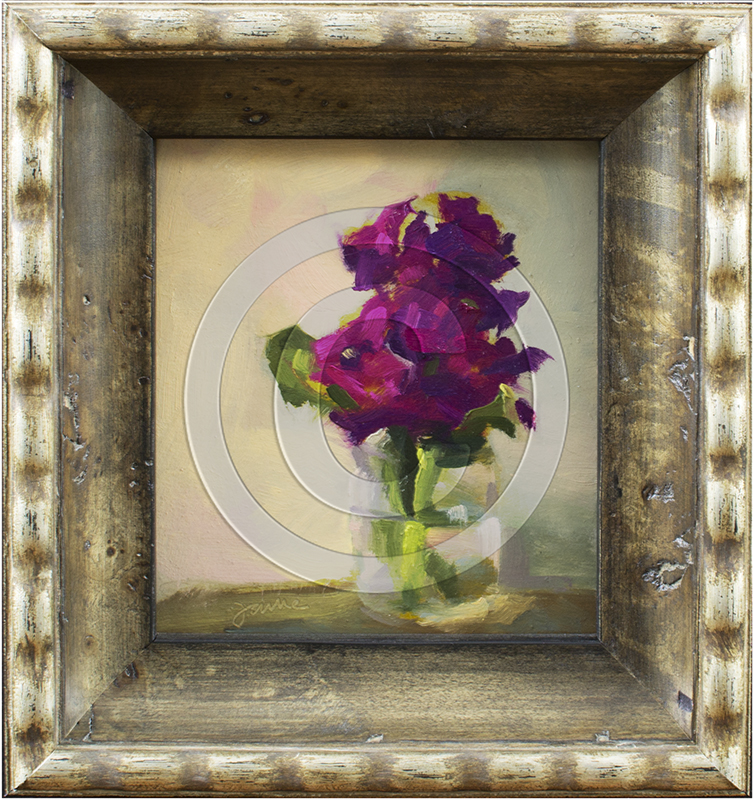 Image of Flower Painting in Decorative Frame