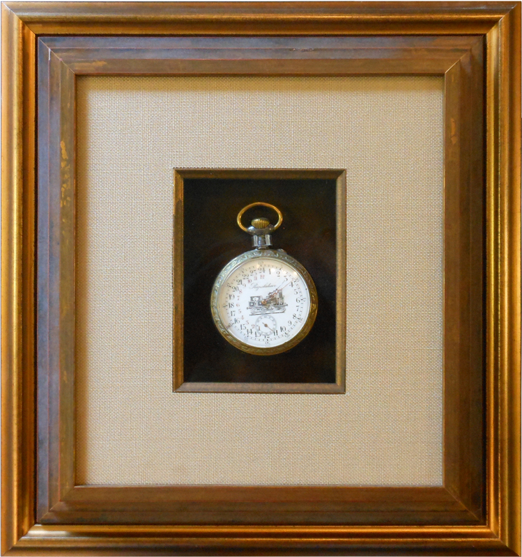 Image of Watch in a Shadowbox Frame