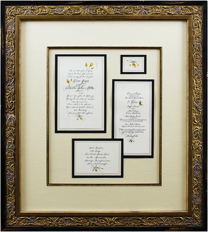 Image of Framed Wedding Invitation