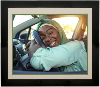 picture framing of girls first car
