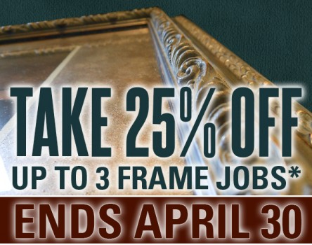 Take 25% OFF Custom Picture Framing